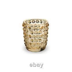 GENUINE LALIQUE Mossi Votive Gold Luster Crystal (10370000)