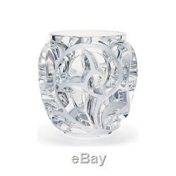 GENUINE LALIQUE Tourbillions Fern Blossom Floral Vase Clear Crystal (10549900)