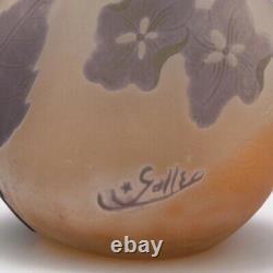 Galle Four Colour Cameo Hydrangeas Vase c1910