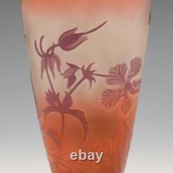 Galle Three Colour Cameo Vase c1925