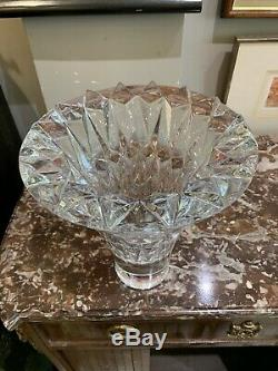 Huge Estate Piece Baccarat Vase Made in France Spirit Vase 9 7/8 Never Used