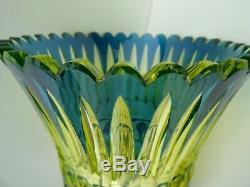 Joseph Simon Art Deco Urane Vaseline Uranium Art Deco Vase Val Saint Lambert