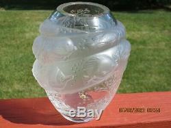 LALIQUE Crystal'MARINA' Vase in Original BOXTarpon SeriesMarine Life Fish