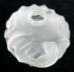 LALIQUE FRANCE SIGNED ART GLASS Soliflore ROYAL PALM COLL. CLEAR COLOR BUD VASE