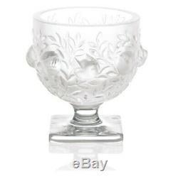 LALIQUE (France) Elisabeth Vase in Satin Finish Clear Crystal, by Marc Lalique