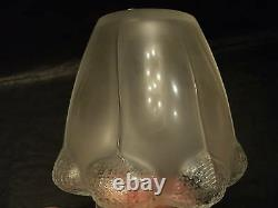 LALIQUE Frosted Crystal BALI 7 Art Glass Vase