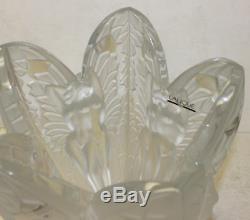 Lalique 483791vas12, Chrysalide Vase L. E, 12H $4700 V Mint NO BOX