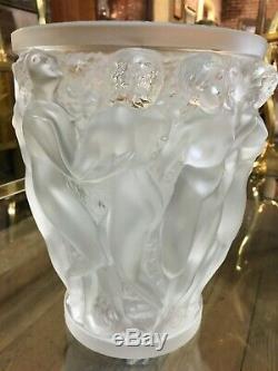 Lalique Art Nouveau 10 Female Nude Bacchantes Crystal Vase
