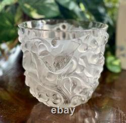 Lalique Avallon Vase Clear & Frosted Guaranteed Authentic Excellent Condition