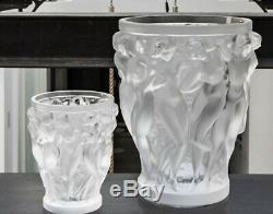Lalique Bacchantes Small Vase Clear Crystal Ref. 10547500 Official Dealer