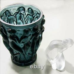 Lalique Bacchantes Small Vase Deep Green Crystal 10547700