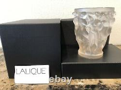 Lalique Bacchantes Small Vase Gold Luster Crystal