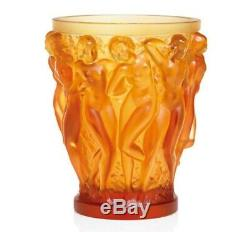 Lalique Bacchantes Vase Amber Crystal Ref. 1220020 Numbered Edition Official