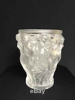 Lalique Bacchantes Vase. Excellent Condition With Lalique's signature