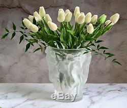 Lalique Bacchantes Vase Mint Condition Guaranteed Authentic Signed Retail $4900
