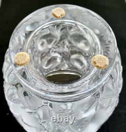 Lalique Bagatelle Vase with Birds in High Relief MINT & Signed Retail $1350