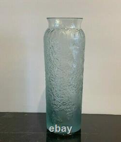 Lalique Bougainvillier Blossom Blue/Grey Vase