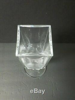 Lalique Crystal 11 Vase, Frosted Deer Base Wow