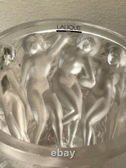 Lalique Crystal Bacchantes Vase Large
