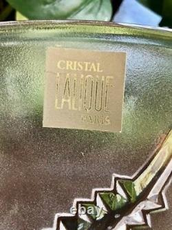 Lalique Crystal Lobelia Fern Vase, Mint Condition, Signed & Guaranteed Authentic