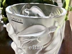 Lalique Crystal Martinets Vase Mint, Signed, Authentic (Martinet) Retail $2800