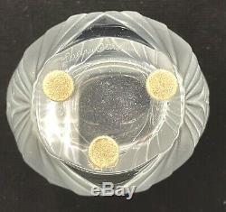 Lalique Crystal Pavie Vase Vintage Signed