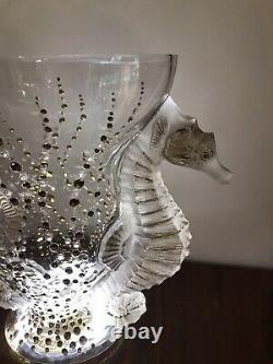 Lalique Crystal Vase, Perfect Condition. Comes With Authenticity Certificate