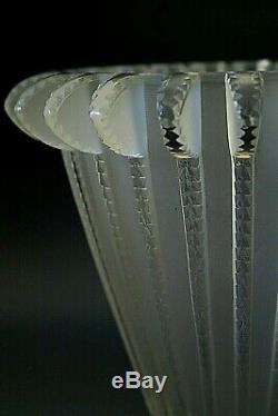 Lalique Crystal Vase Royat , Signed