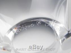 Lalique France Crystal 4 TALL DEUX TULIP VASE