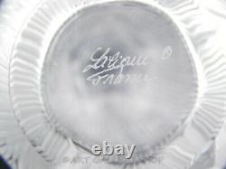 Lalique France Crystal 6-1/8 COEUR DE FLEUR FLOWER BUD VASE WITH BUTTERFLY Mint