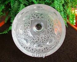Lalique France Elizabeth Satin Crystal Vase Sparrows Flora Fauna Bowl Art Glass