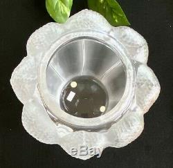 Lalique French Crystal Bali Vase Mint signed Authentic and Corgeous