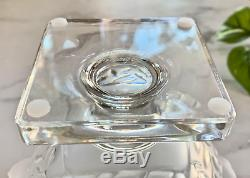 Lalique Frosted Crystal Elizabeth Vase Mint Signed Authentic Excellent Quality