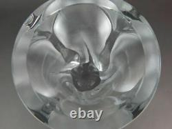 Lalique Glass Frosted Clear Ingrid Vase