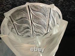 Lalique Large Crystal Liseron Vase Excellent