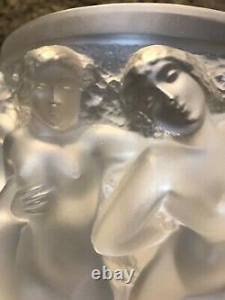 Lalique Large Frosted Bacchantes Vase