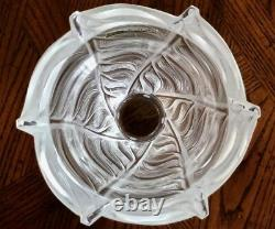 Lalique Liseron Vase Signed and Guaranteed Authentic 9.25 Tall MINT