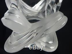 Lalique Lucca 11 Crystal Vase, Ne Plus Ultra, Superb Condition, #12303