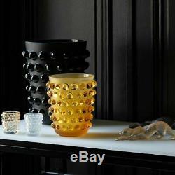 Lalique MOSSI VASE AMBER CRYSTAL 10029000