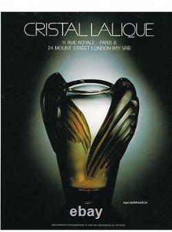 Lalique Marrakech Vase Excellent Condition Guaranteed Authentic