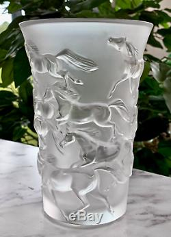 Lalique Mustang Vase Great Condition Signed Authentic Retails for $895