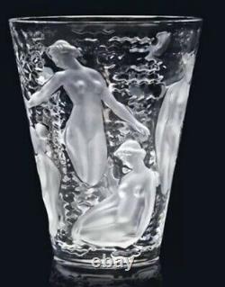 Lalique Ondines Vase Signed Lalique France