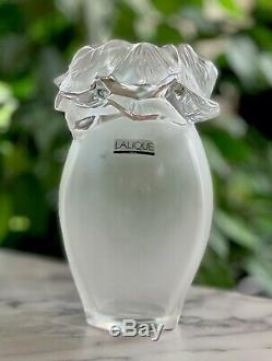 Lalique Saint Barth Vase Signed Mint Condition French Crystal 8.75 Tall
