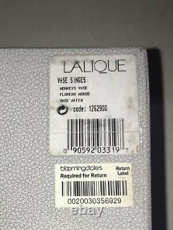 Lalique Singes Monkey Vase With Box