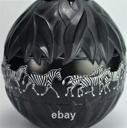 Lalique Tanzania Vase Lamp Base Black