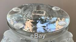 Lalique Three (3) Jaguars Vase Large Heavy Mint Condition Signed & Numbered
