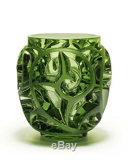 Lalique Tourbillons Limited Edition Light Green Vase