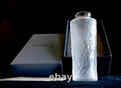 Lalique Vase With Nude Fairys And Original Box With Paper Work