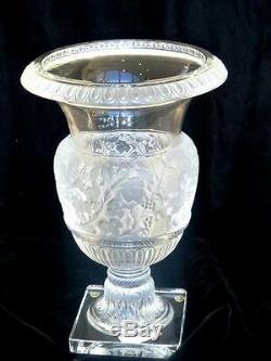 Lalique Versailles Large Vase 1978 France Vintage Glass Urn