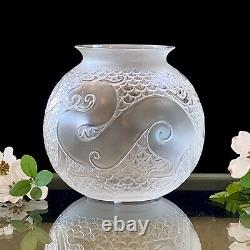 Lalique Xian Dragon Vase Signed MINT New Condition with Box Signed Retail $2,100